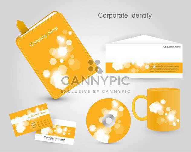 corporate identity vector labels set - Kostenloses vector #132550