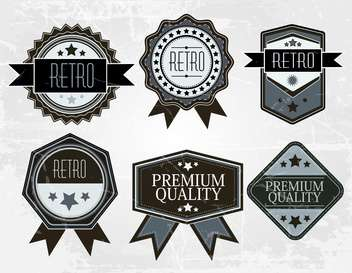 vintage premium quality labels collection - бесплатный vector #132590