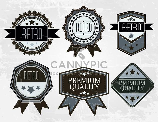 vintage premium quality labels collection - Free vector #132590