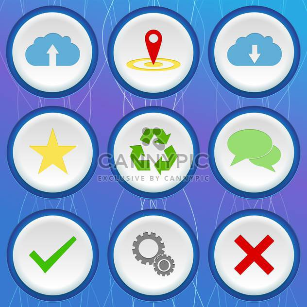 set of 3d icons with web signs - Free vector #132620