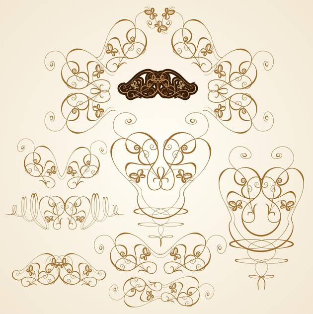 scrapbook ornate templates set vector illustration - Free vector #132660