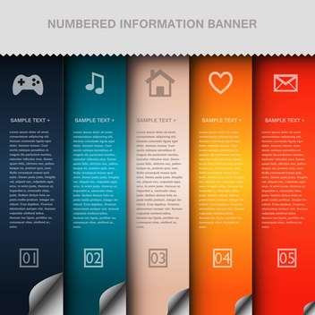 business option numeric banners - vector gratuit #132730