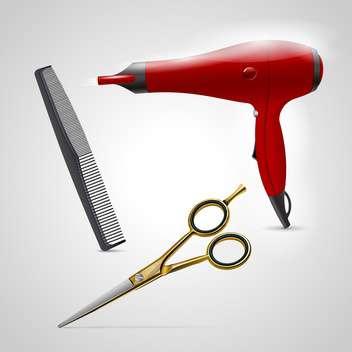 Vector barber shop icons - Free vector #132790