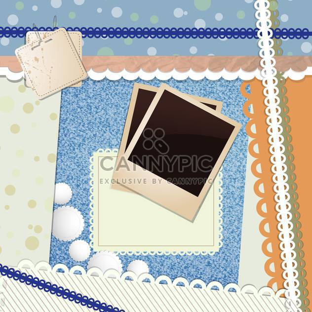 blank aged photo frames - Free vector #132820