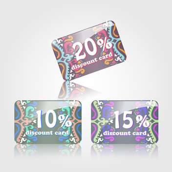 shopping discount cards set - vector #132850 gratis