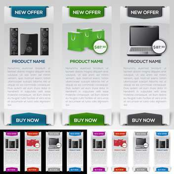 electronic devices website design template - Free vector #132870