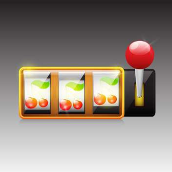 cherries on slot machine background - vector gratuit #132890