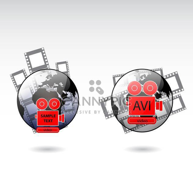 film camera icons set - Kostenloses vector #132910