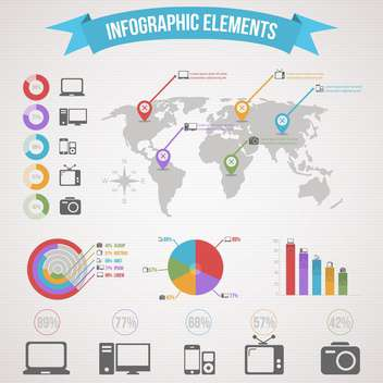 business infographic elements set - vector gratuit #132970