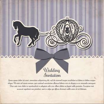vintage horse carriage invitation template - vector #133000 gratis