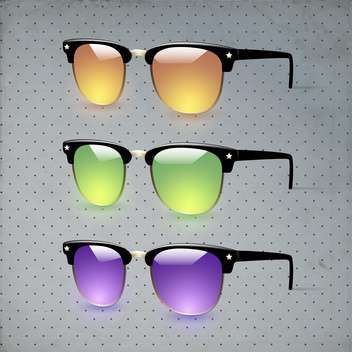 colorful collection of vector glasses - бесплатный vector #133010