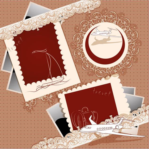 vector vintage photo frames set - vector gratuit #133030
