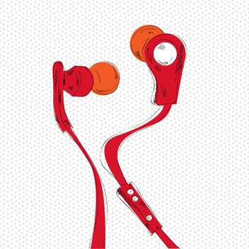 vector illustration of audio headphones - vector gratuit #133040