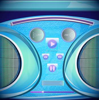 set of stereo radio recorder - vector gratuit #133090