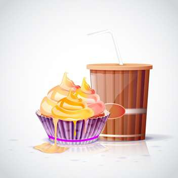 tea party set background - vector gratuit #133100
