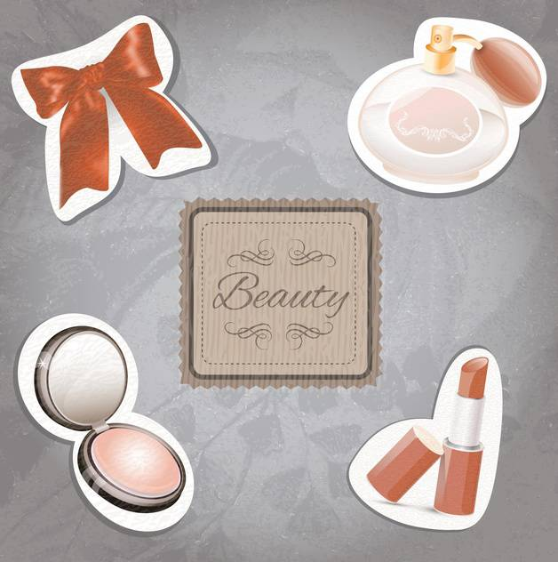 female cosmetic beauty set - vector gratuit #133120
