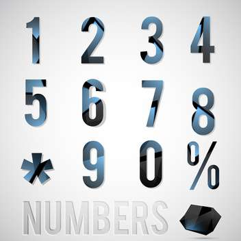 vector numbers set illustration - vector gratuit #133160