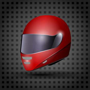 racing red helmet illustration - vector gratuit #133210