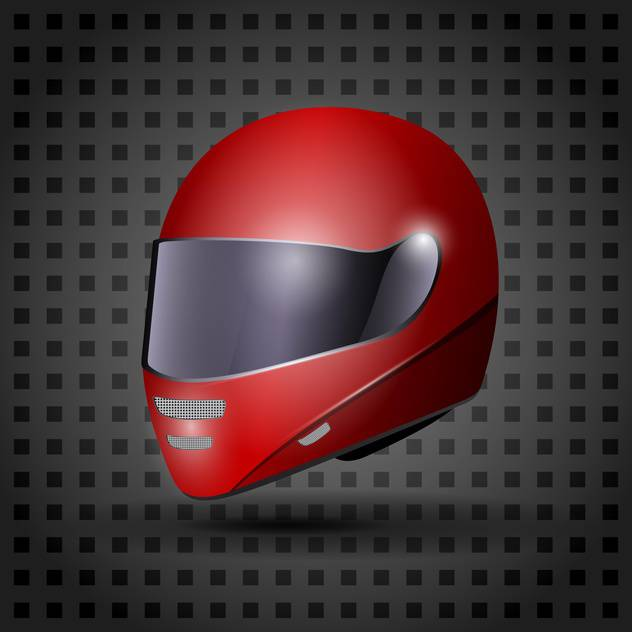 racing red helmet illustration - vector #133210 gratis