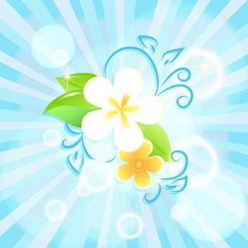 vector floral summer background - vector gratuit #133220