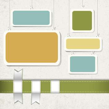vintage frames set background - Free vector #133240