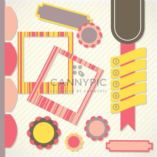 vintage photo frames and labels vector set - Free vector #133270