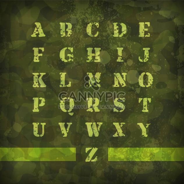 military vintage alphabet letters - Free vector #133310