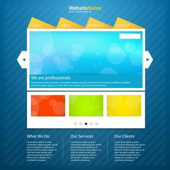 template of abstract website background - vector gratuit #133370