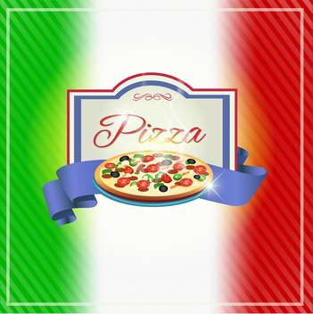 pizza label design background - vector gratuit #133390