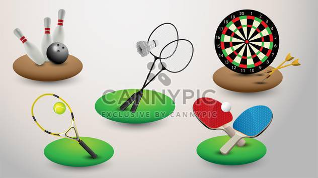 sport equipment vector illustration - Free vector #133400