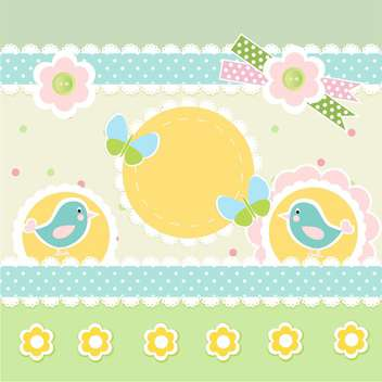 vector frames with birds background - vector gratuit #133440
