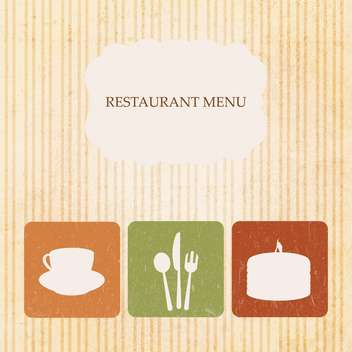 vintage restaurant menu design - Free vector #133460