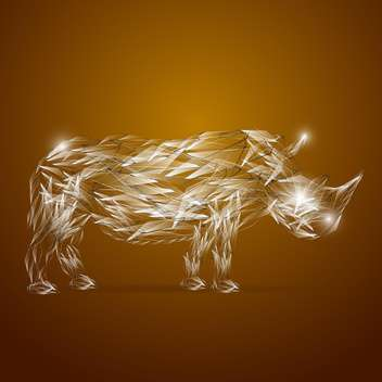 abstract glassy rhino animal - vector gratuit #133490