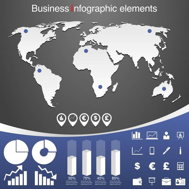 set of business infographic elements - vector gratuit #133540