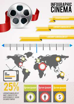 set of cinema infographic elements - Free vector #133610
