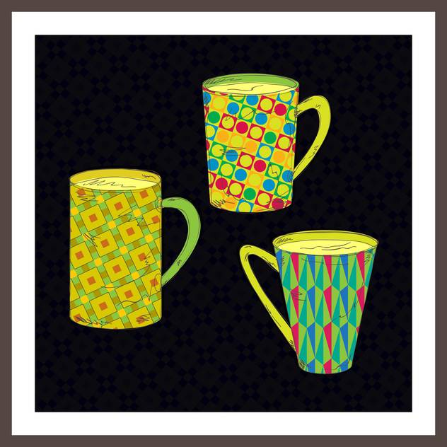 vector set of cups for tea or coffee - vector gratuit #133690