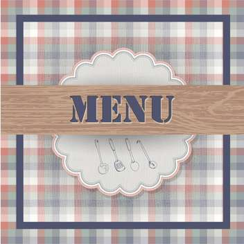 vintage food menu background - Free vector #133730