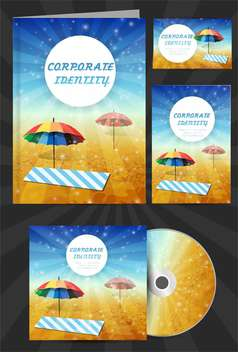 corporate identity for travel company - vector gratuit #133740