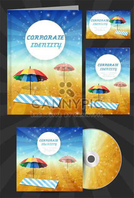 corporate identity for travel company - Free vector #133740