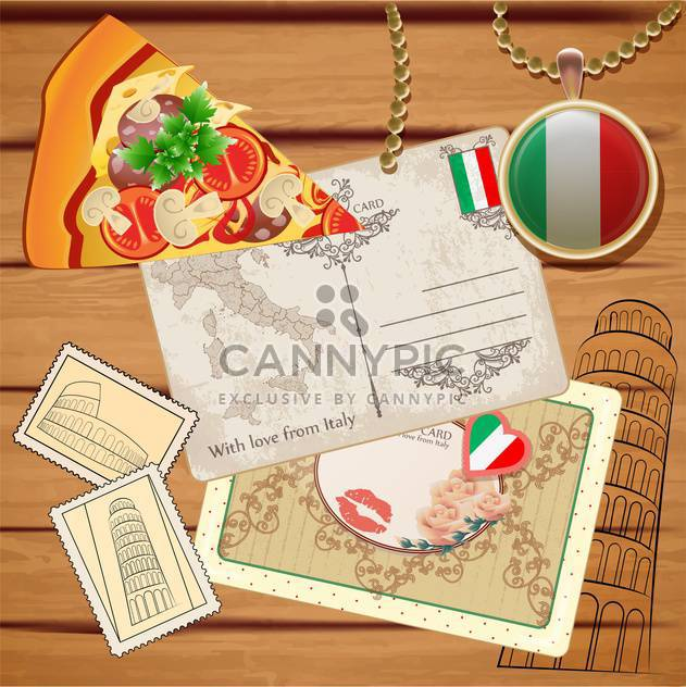 travel to italy postcards background - Free vector #133760