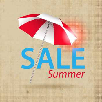 summer shopping sale background with umbrella - Free vector #133780