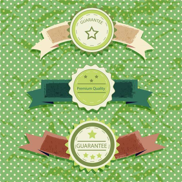 vintage labels on green background - Free vector #133800