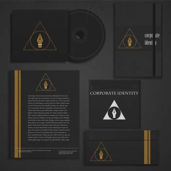 business corporate identity template - vector gratuit #133830