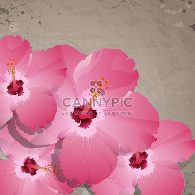 background with violet spring flowers - Free vector #133840