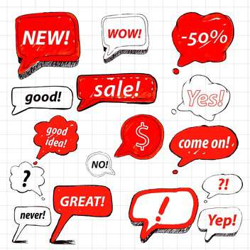 set of speech bubbles for sale - vector gratuit #133850