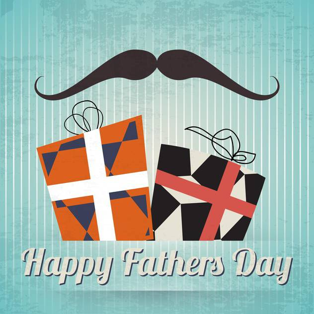 happy father's day vintage card - vector gratuit #133940
