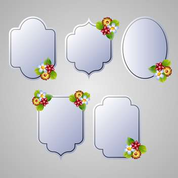 set of flora frames background - vector #133970 gratis