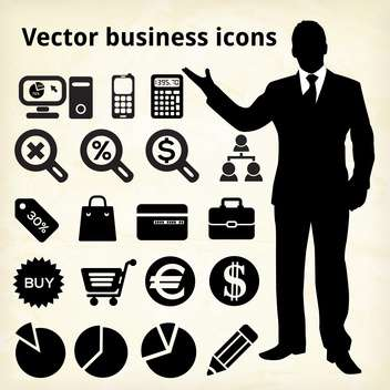 business icons set background - vector #133990 gratis