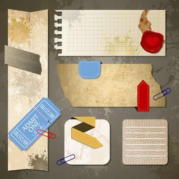 old paper textures background - vector gratuit #134000