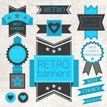 vector set of retro labels - бесплатный vector #134010